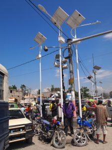 Eclairage des quartiers en reconstruction en Haïti