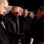 Gérard Collomb, Maire de Lyon et Hervé Gouyet, Président d'Electriciens sans frontières