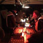 La tente de préparation des lumignons est en ébullition