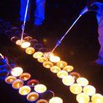 Allumage des bougies de la fresque